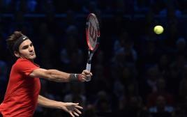 רוג'ר פדרר מול קיי נישיקורי בטורניר המאסטרס בלונדון