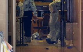 זירת הפיגוע בבית הכנסת בירושלים