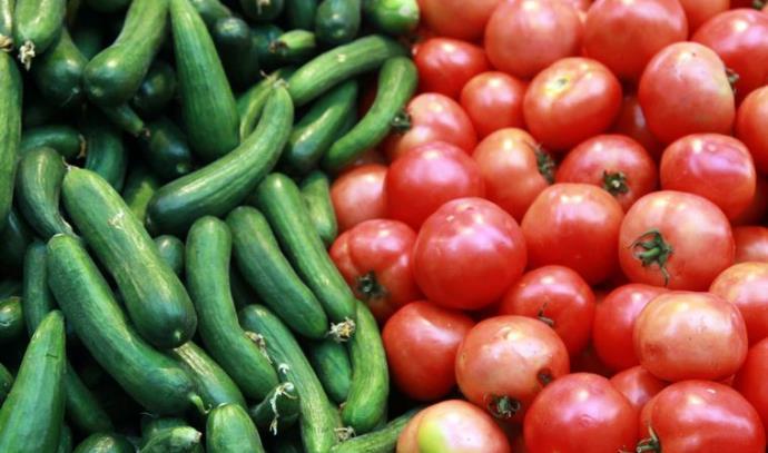 עגבניות מלפפונים