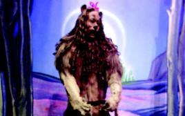 האריה בקוסם מארץ עוץ. החליפה הייתה עשויה מפרווה אמיתית