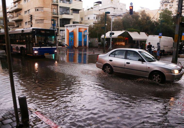 כביש מוצף בתל אביב, אתמול
