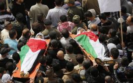 הלוויה פלסטינית בחברון