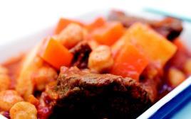 תבשיל בשר, חומוס ודלעת מהיר הכנה
