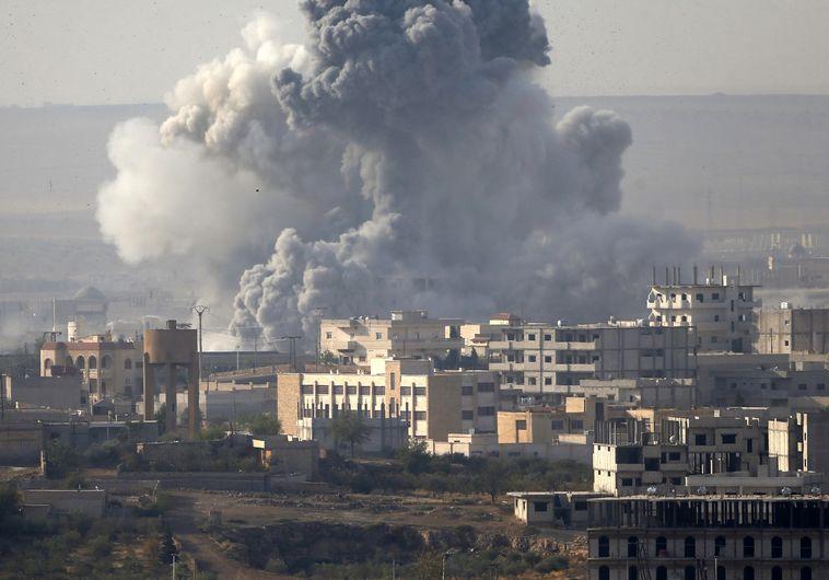 הפצצות בעיר קובאני בסוריה, צילום: רויטרס