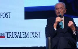 שמעון פרס בכנס ג'רוזלם פוסט