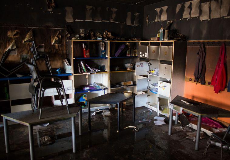 """ביה""""ס הדו-לשוני בירושלים אחרי השריפה"""