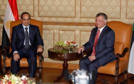 נשיא מצריים סיסי ומלך ירדן עבדאללה בפגישה בעמאן