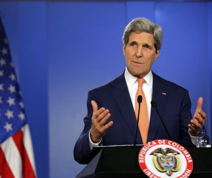 ג'ון קרי, שר החוץ האמריקני, בביקור בקולומביה