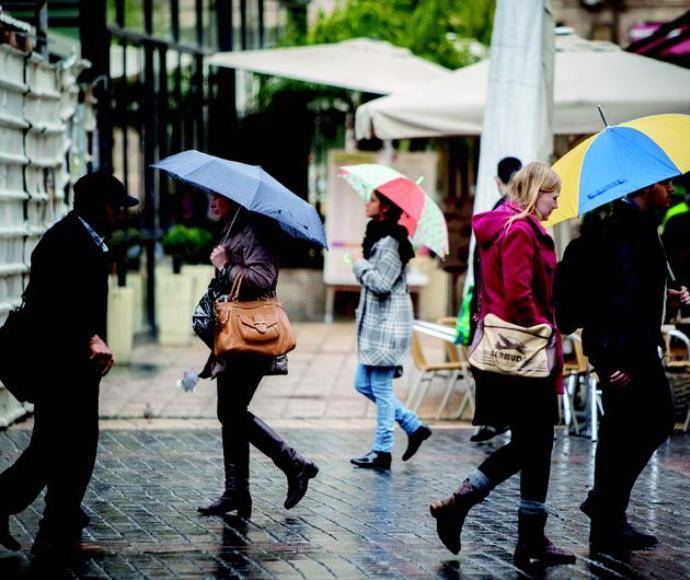 גשם בערי המרכז