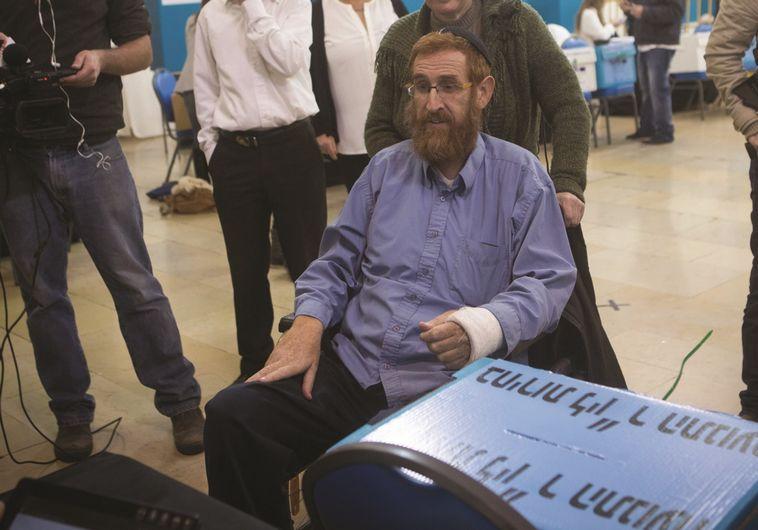 יהודה גליק לאחר נסיון ההתנקשות בו. צילום: פלאש 90