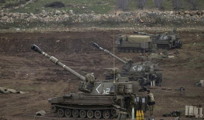 """כוחות שריון של צה""""ל בגבול הצפון"""