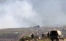 חיילים צבא לבנון בזמן ההסלמה בצפון
