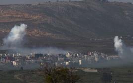 """תקיפת צה""""ל בדרום לבנון בתגובה לירי הנ""""ט"""