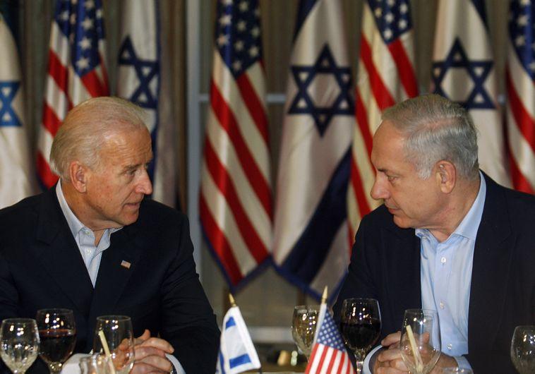 """ראש הממשלה בנימין נתניהו וג'ו ביידן סגן נשיא ארה""""ב ב2010"""