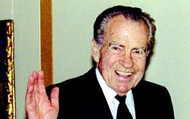 """נשיא ארה""""ב לשעבר ריצ'ארד ניקסון"""