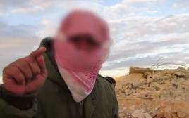 טרוריסט בסיני המקושר לדאעש בסרטון