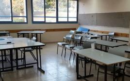 הכיתה שבה נדקרה הנערה במועצה האזורית גלבוע דקירה