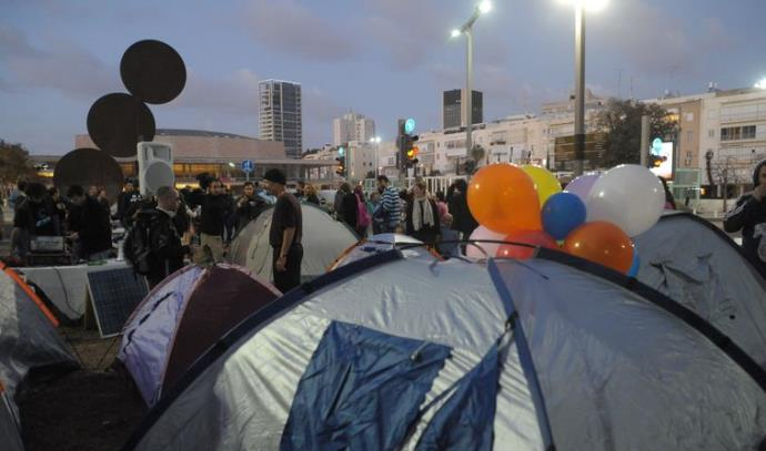 אוהלים במחאה החדשה ברוטשילד