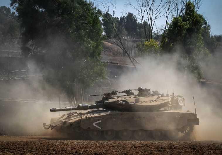 טנק מרכבה על גבול רצועת עזה