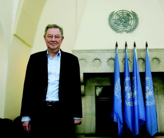 """רוברט סרי במטה האו""""ם בירושלים"""