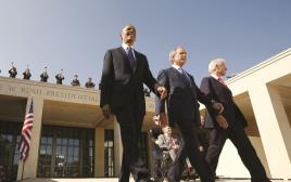 """נשיאי ארה""""ב קלינטון, בוש הבן ואובמה"""