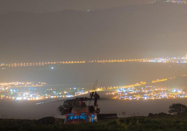 תמונה של המסוק בשטח בצפון במתאר דומה לכפר לבנוני