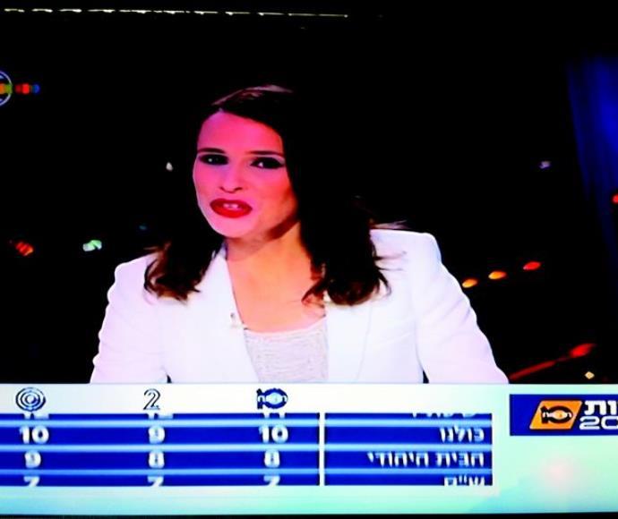 """המדגם בערוץ 10 (למטה המדגם בערוץ 2). """"מומחים"""" התקבצו באולפנים השונים"""