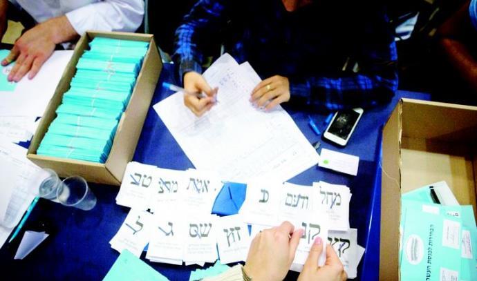 ספירת הקולות בוועדת הבחירות המרכזית