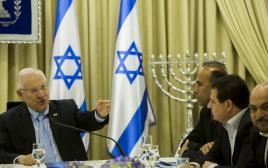 נציגי הרשימה הערבית נפגשים עם ריבלין
