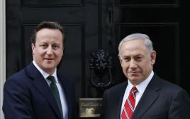 בנימין נתניהו ודייויד קמרון ראש ממשלת בריטניה