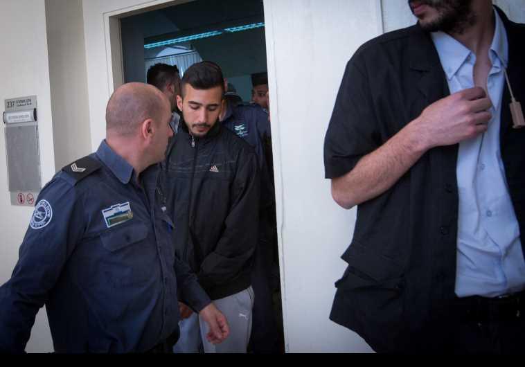 ניב אסרף משתחרר ממעצר. צילום: מרים אלסטר, פלאש 90