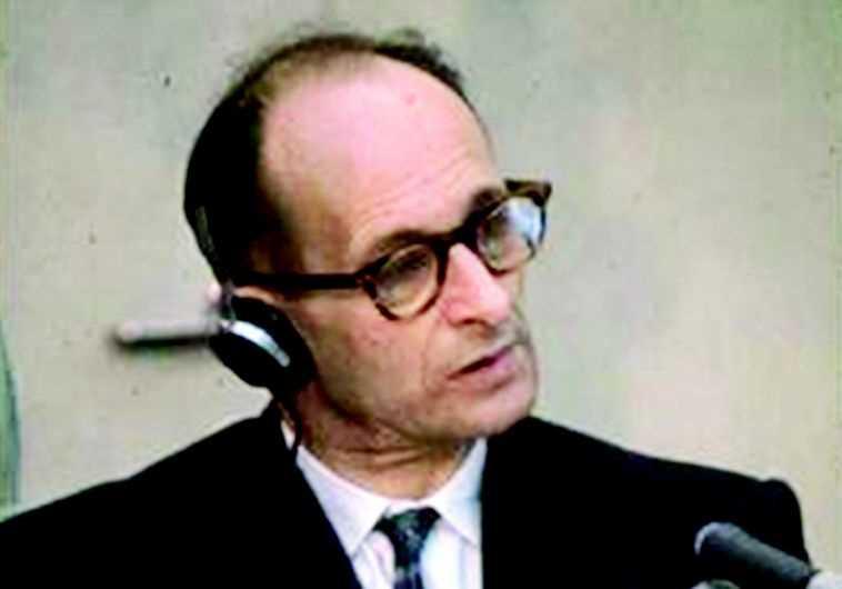 אדולף אייכמן במשפטו. צילום: ארכיון התמונות הלאומי