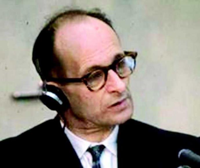 אדולף אייכמן במהלך משפטו