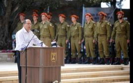שר הביטחון משה יעלון בטקס יום הזיכרון לחללי מערכות ישראל