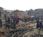 הריסות בקטמנדו כתוצאה מרעש האדמה