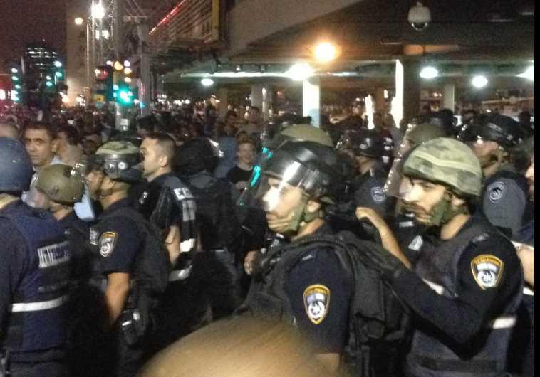 משטרה בכיכר רבין