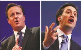 בחירות בבריטניה אד מיליבנד ודיויד קמרון