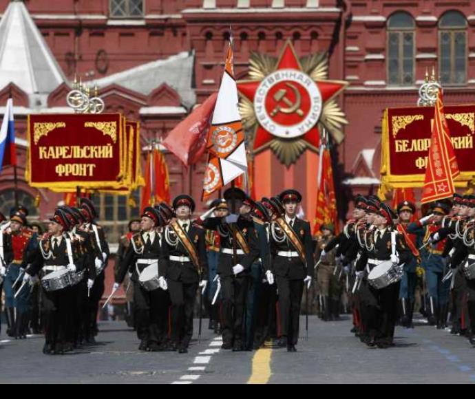 מצעד צבאי ברוסיה לציון הניצחון על הנאצים