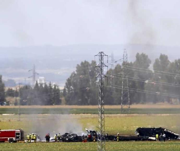 התרסקות מטוס צבאי בספרד