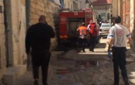 פיצוץ בלון גז בירושלים