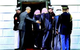 אובמה מקבל את המשלחת הסעודית בבית הלבן