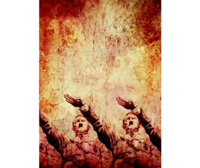 אדולף היטלר, אימונים במועל יד. אישיותו, נטייתו המינית והרצחנות שלו. איור של נעמי ליס מיברג