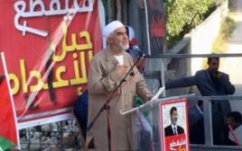 שייח ראאד סלאח, בהפגנה של התנועה האסלאמית לשחרור מורסי