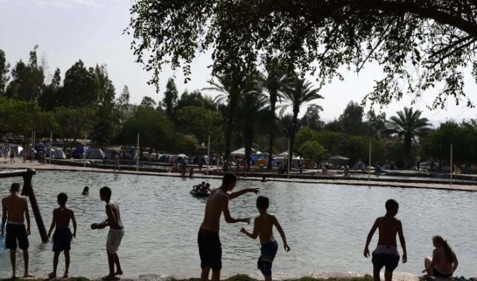 הבריכה בגני חוגה, סמוך לבית שאן. ארכיון קיץ מים ילדים טביעה