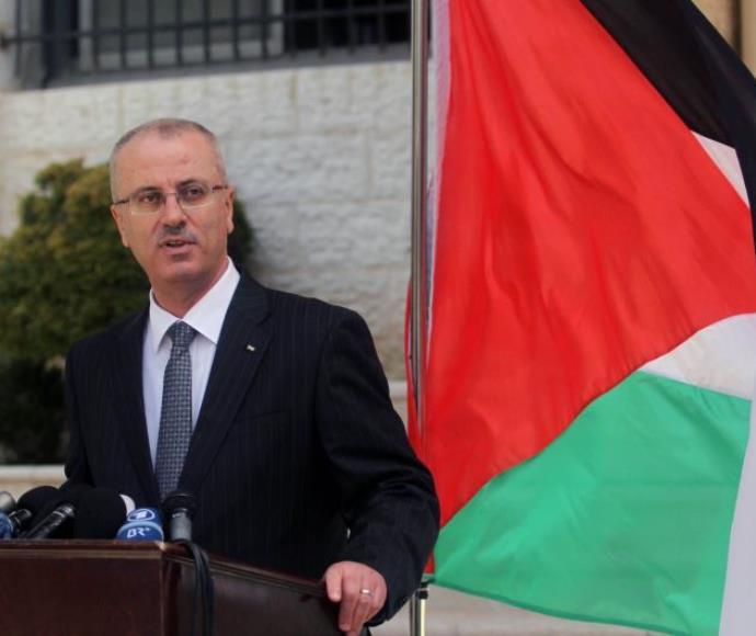 ראש הממשלה הפלסטיני רמי חמדאללה