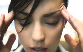 התקף חרדה, אילוסטרציה כאב ראש פחד חרדה חרד לחץ
