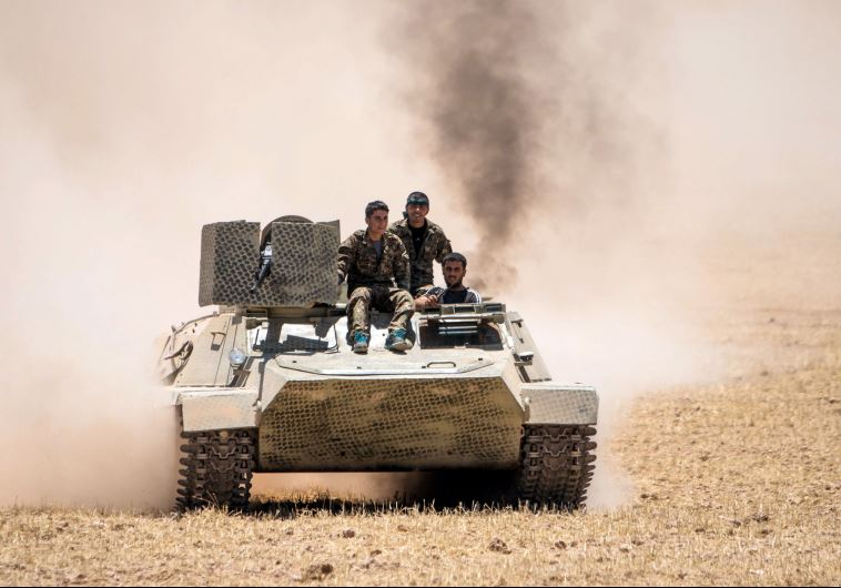 לוחמים כורדים בסוריה. צילום: רויטרס
