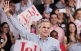 """ג'ב בוש מכריז על מועמדותו לנשיאות ארה""""ב במיאמי"""