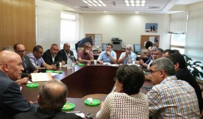 הישיבה של הרשימה המשותפת עם ראש היישובים הערביים
