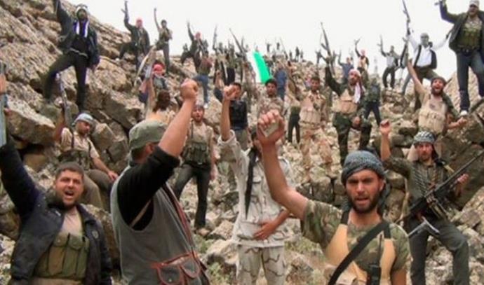 כוחות המורדים בסוריה חוגגים